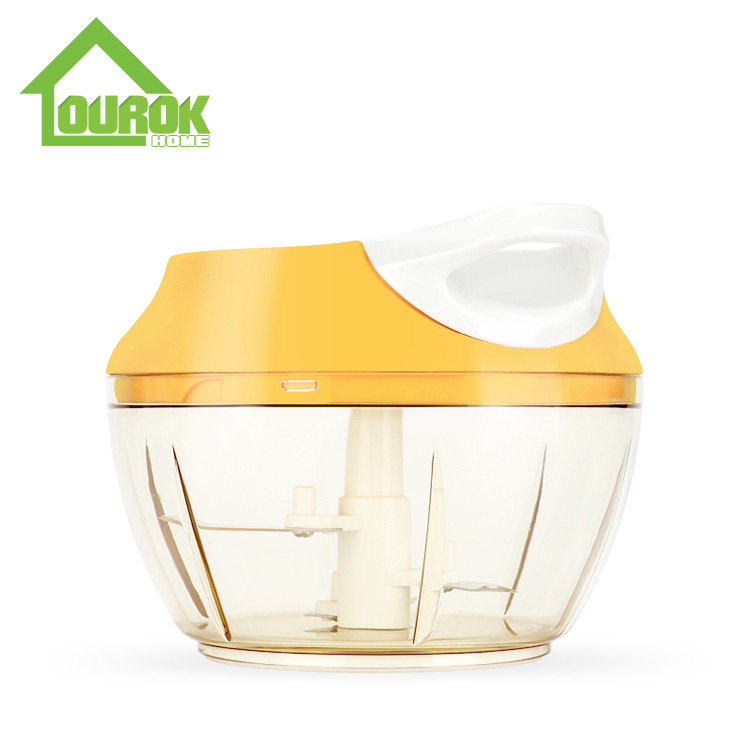 New Multifunction Hand Held Pulling Food Chopper for Home Use A007( Yellow) Featured Image