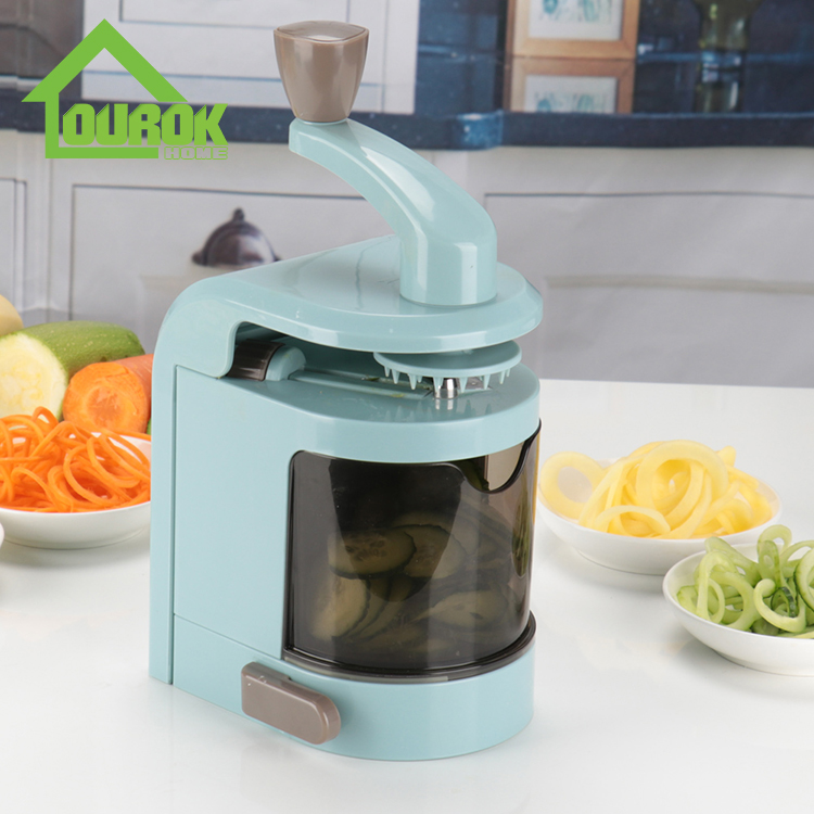 Plastic multifunctional manual vegetable spiralizer slicer for kitchen C327 Featured Image