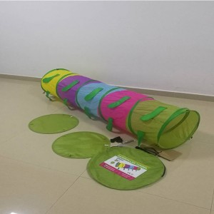 Kids Caterpillar playing Crawl-Through Tunnel  Indoor or Outdoor