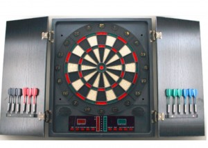 Portable electronic dartboard