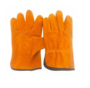 Cow split leather driver glove