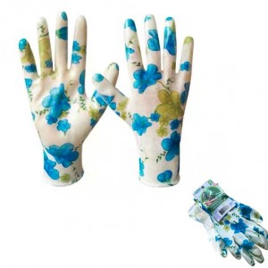 Gardening glove with printing