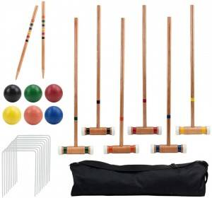 Six-Player Deluxe Croquet Set