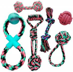 Pets Puppy Dog Cute Pink  Rope Toys Set Bundle