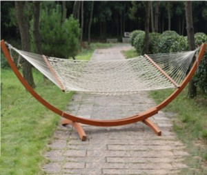 Wooden hammock swing ,Cotton Rope hammock