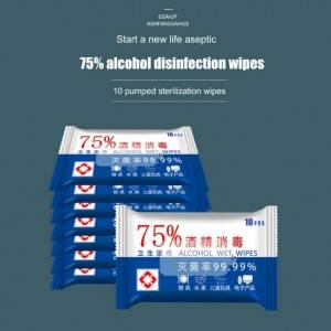 75% Alcohol Cotton Wet Wipes