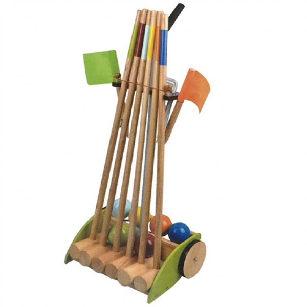 croquet set with  storage holder