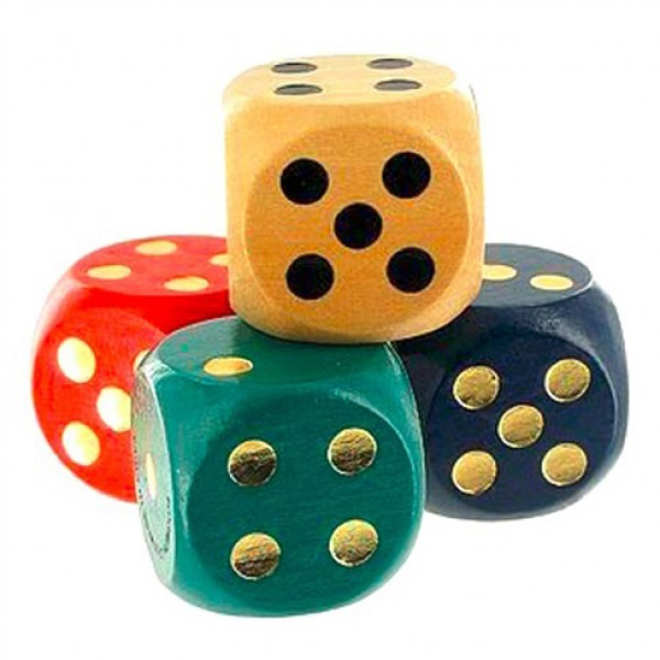 Dice 4 Color Assortment (Red, Yellow, Black and Green) ST-23038