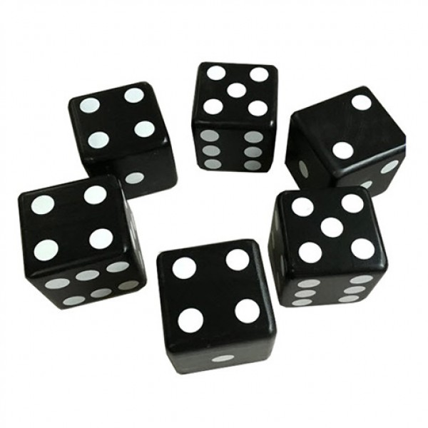 Eco-friendly Plastic Dice-Black Dice ST-23039