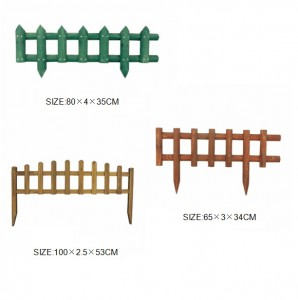Garden Fence Plant Picket Fencing Wooden Plant Palisades Flower for Plants