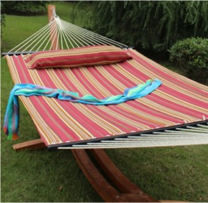 High quality Stripe hammock with pillow