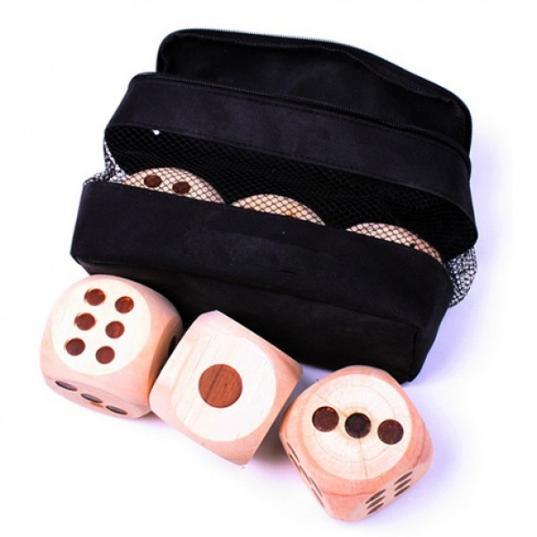 Wooden Indoor/Outdoor Dice -Dice Game Set with bag ST-23040