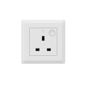 Smart Plug UK remote on off schedule energy monitoring in wall WSP406