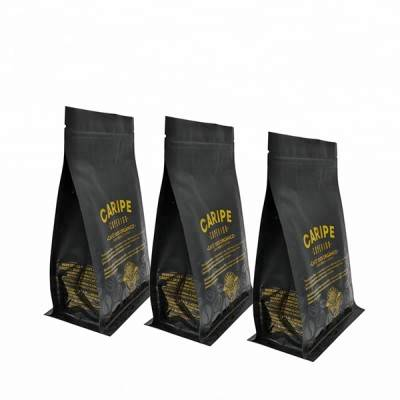 free samples custom printed kraft paper flat square bottom bags chips food packing pouch