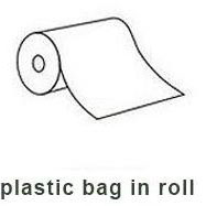 plastic bag in roll for food