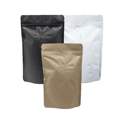 Stand up bag with zipper for coffee packaging bag with valve
