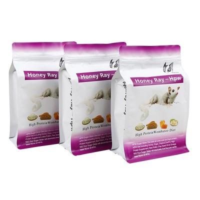 2.5KG Flat bottom bag Dog food  treat bag with zipper