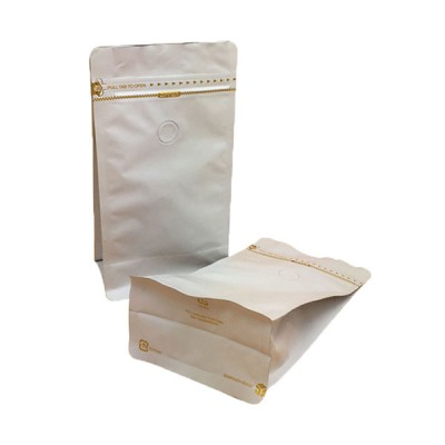 Kraft paper bag for food paper packaging compostable bag