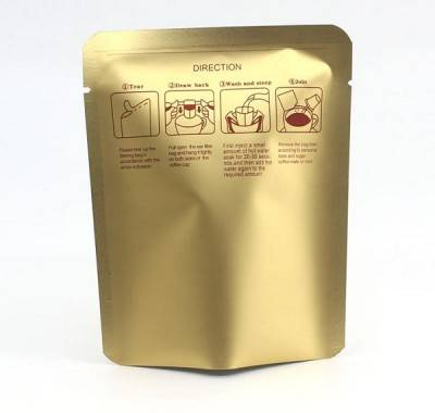 Wholesale Stock 10g Drip Coffee Bag 10X12.5cm Aluminized Small Coffee Package Pouch 3 Side Sealed Coffee Sachets
