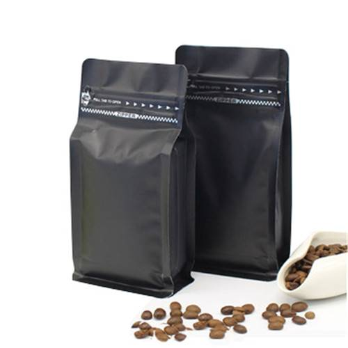 Aluminum pouch Flat bottom bag with valve for food Featured Image