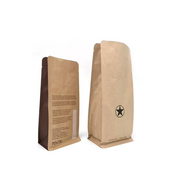 Cassava Compostable Kraft Paper  Bag Food Degradable Stand up Packaging Bag Featured Image