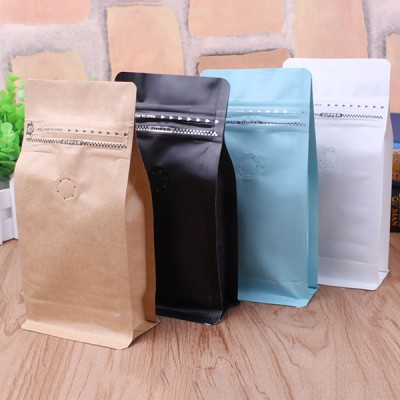 Flat Bottom bag for coffee beans