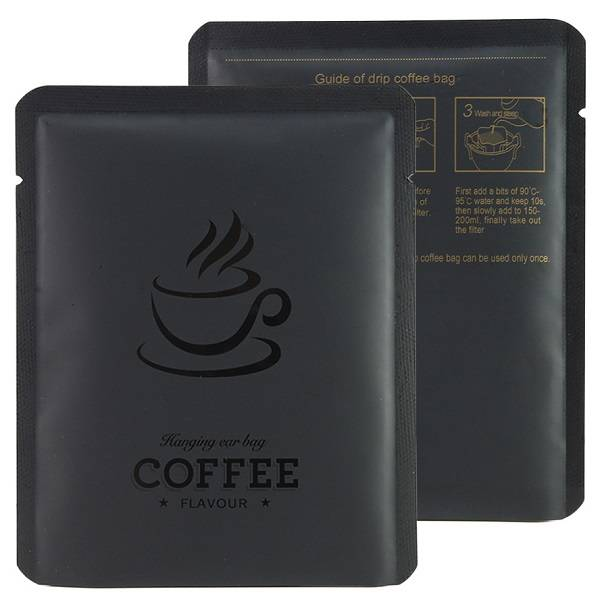 Wholesale Stock 10g Drip Coffee Bag 10X12.5cm Aluminized Small Coffee Package Pouch 3 Side Sealed Coffee Sachets Featured Image
