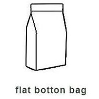 flat botton bag