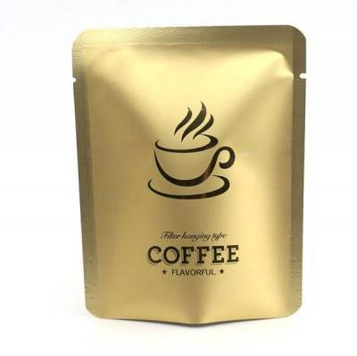 Matt Gold Glossy Mini Drip Coffee Pouch Package Sachet for Packing Hanging Ear Filter Coffee Power 10g 10X12.5 Size