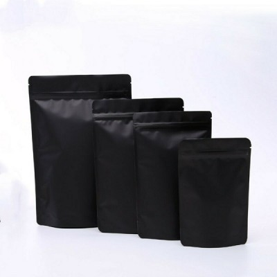 Matte Black Dried Food Aluminum Foil Stand up Bags Zip Lock Doypack
