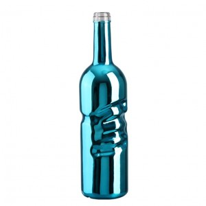 750ml Customized Color Printing Plating Empty Glass Bottle