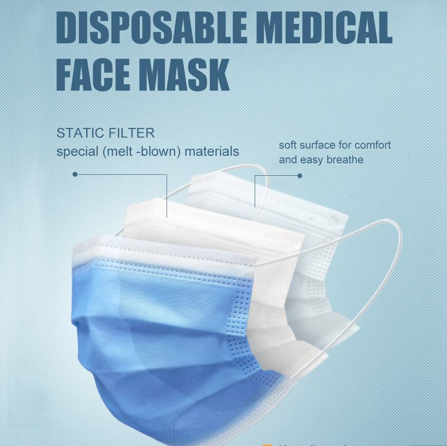 3 Ply Medical Face Mask With Earloop
