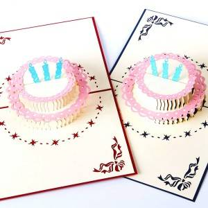 Greeting Card Birthday Cake Pop Up Happy