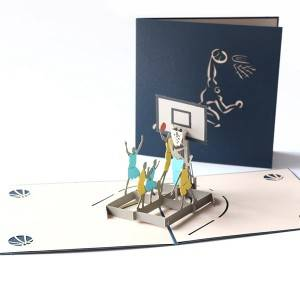 Paper Spiritz Sport Pop Up Card Basketball Player Gift Card Birthday Greeting Card