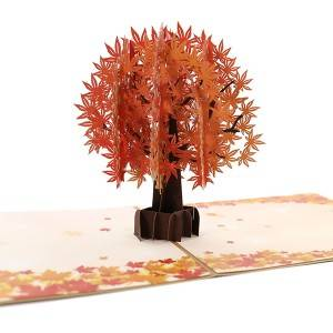 Maple Tree Greeting Card Unique Pop Up Card Designed 3D Card