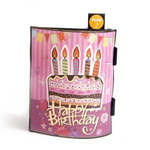 Music 3D Pop Up Birthday Cake Card Musical Greeting Cards Happy Birthday to You
