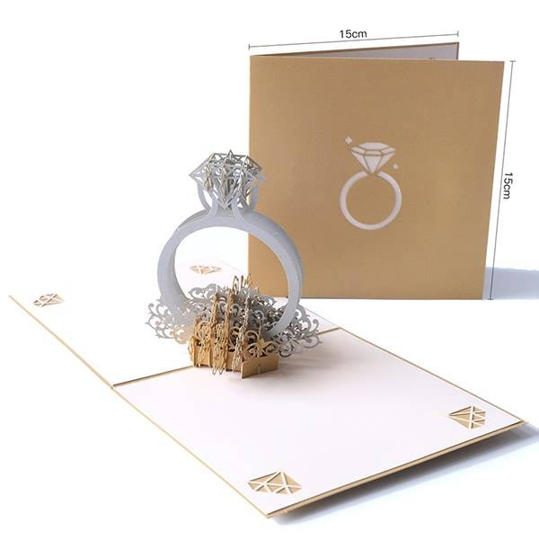 OEM/ODM China Happy Birthday Greetings - Customise Printing Laser Cut Romantic Ring Wedding Invitation Cards – Jiujv