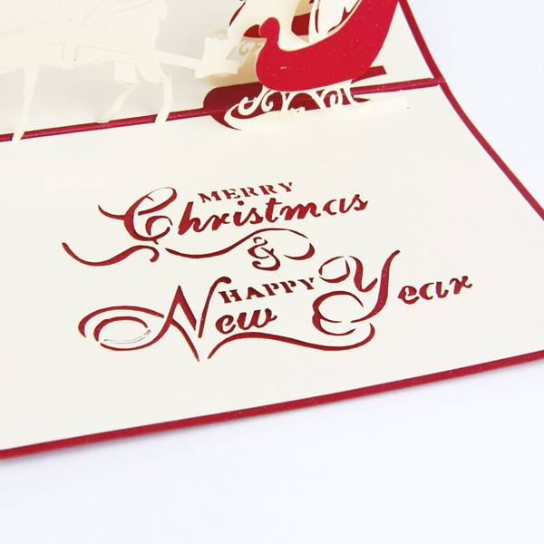 OEM/ODM Factory 3d Wedding Invitation Card - Santa Ride Popup Xmas Cards  – Jiujv