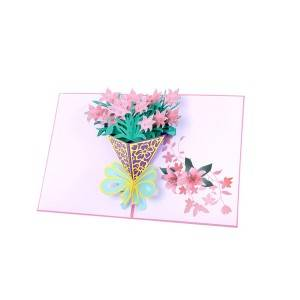 Narcissus Bouquet  3D Popup Cards with  Flower Themes Includes Envelopes