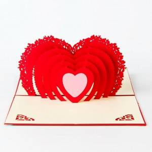 Heart Love 3d Pop Up Card Forvalentine'S Day
