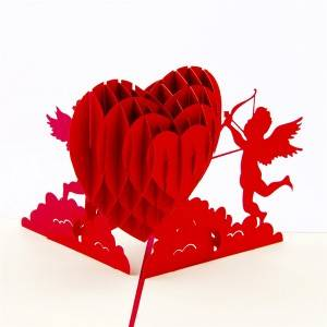 Cupid Heart 3D Invitations Engagement Gift Cards