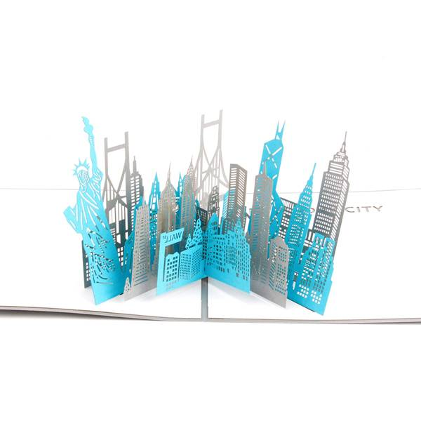 OEM Customized Greeting Card - New York City Sketch Card Laser Cut Origami Gift card – Jiujv Featured Image