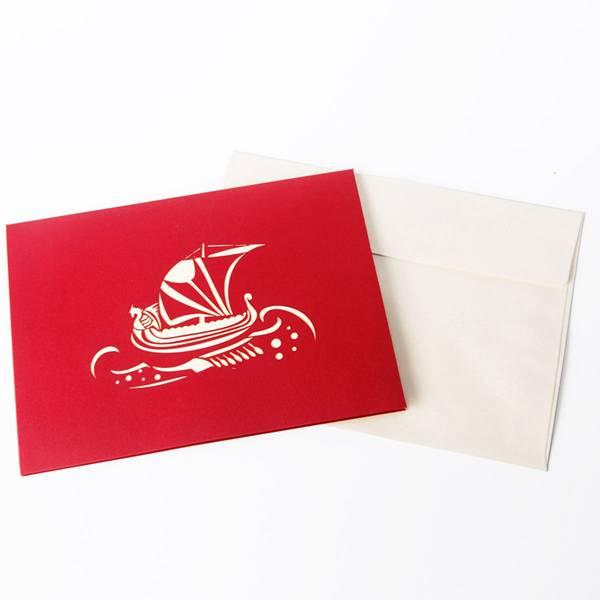 PriceList for Laser Cut Wedding Invitation Card -  Paper Spiritz 3D pop up sailboat Pirategreeting card laser cut postcard handmade kirigami creative gifts – Jiujv detail pictures