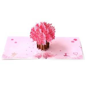 Fantastic Sakura 3D Pop up Card Birthday Greeting Cards Thinking of You Craft Card