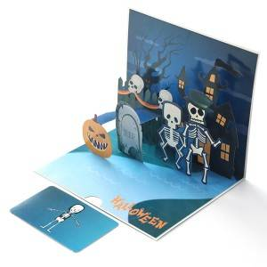 Funny3D Skull Pop-Up Card Greeting Card