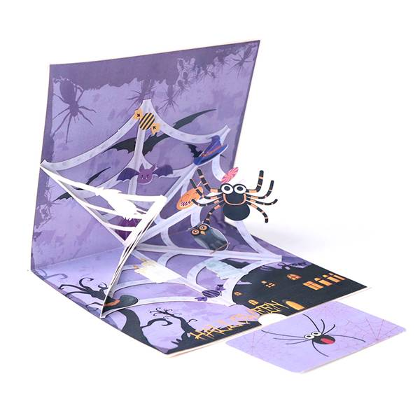 Good Quality Butterfly Pop Up Card - Hallowmas horrible spider  3D Halloween popup Greeting Cards – Jiujv
