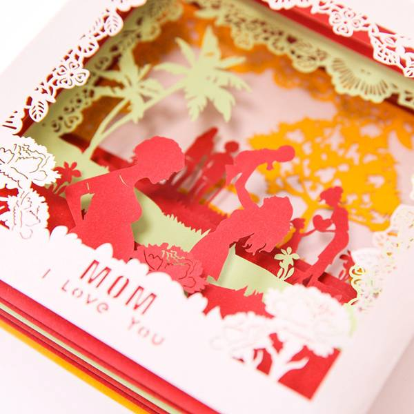 OEM/ODM China Christmas Card Ideas -  Beautiful Laser Cut Paper  Card For Mom  – Jiujv detail pictures