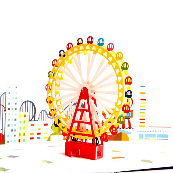 China Factory for Pop Up Mother\\\'s Day Cards - 3D Pop Up Greeting Card – Magical Ferris Wheel Ride to Cloud Top – Birthday Cards Graduation Cards – Jiujv Featured Image