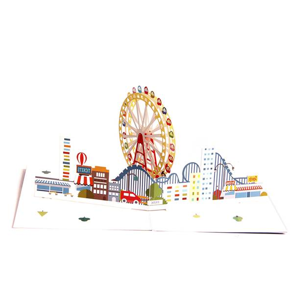 China Factory for Pop Up Mother\\\'s Day Cards - 3D Pop Up Greeting Card – Magical Ferris Wheel Ride to Cloud Top – Birthday Cards Graduation Cards – Jiujv