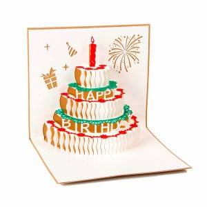 Happy Birthday 3D Pop Up Greeting Cards with Cake